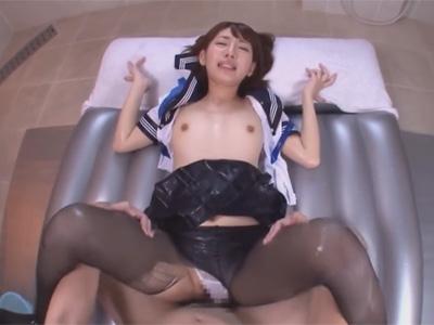【女子校生ソープadaruto動画】セーラー服姿の美乳ソープ嬢の「乙葉ななせ」が中出しセックスで極上のおもてなし…!